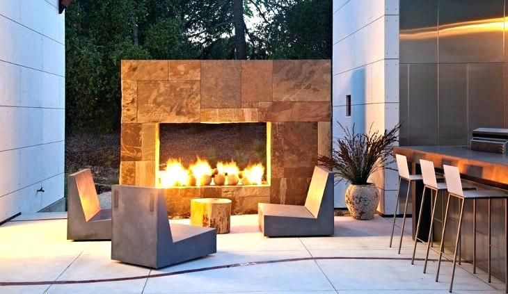 Outdoor Fireplace Hearth Modern Google Search Concrete Patio