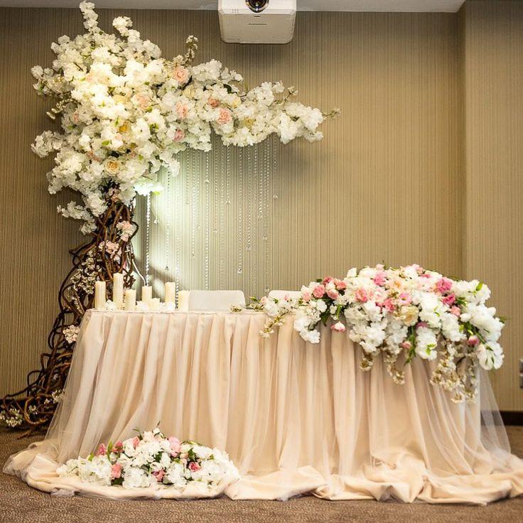 оформление стола для молодоженов фото декор уместен