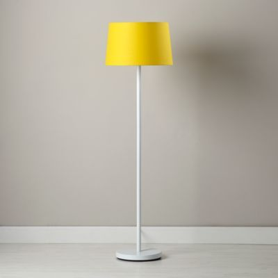 Light Years Yellow Floor Shade and White Base  | The Land of Nod