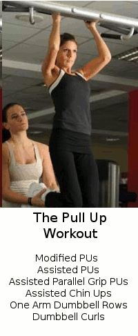 This pull up workout will help you to develop the strength required to eventually perform full unassisted pull ups