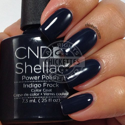 CND Shellac Modern Folklore Collection - Indigo Frock - swatch by Chickettes.com