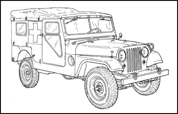 M170 Ambulance for the Jeep Coloring Book.
