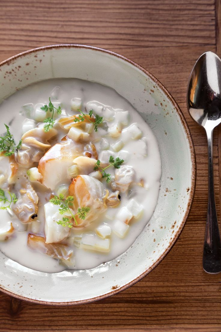 Chef Will Gilson, the chef-owner of Puritan & Company in Cambridge, serves a Scottish chowder. Finnan Haddie Chowder originated in Findon, Scotland centuries ago.