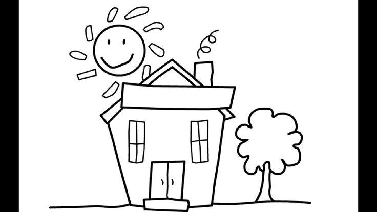 wie zeichnet man haus | malvorlagen für kinder haus