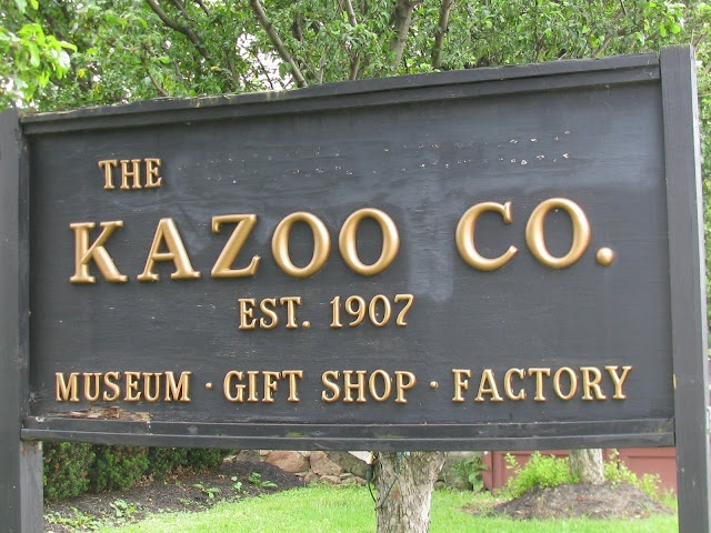 """On another of our road trips from Toronto to Dinosaur Bar-B-Q in Rochester, he made a side-trip to """"the only metal kazoo factory & museum in North America"""", in Eden NY."""