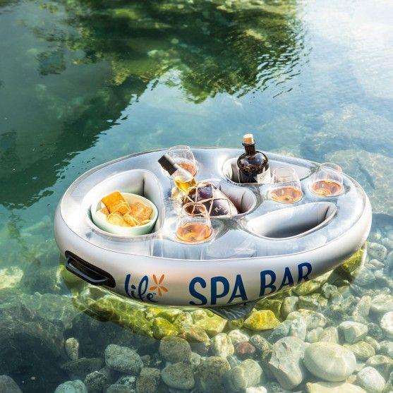 Top Produits - Bar flottant pour Spa et bain à remous (gonflable) - Une idée cadeau originale pour des séances de Spa plus agréable!