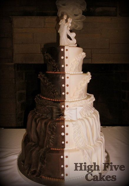 Wedding Cake Half Icing Chocolate Best Images About And On Purple Orchids