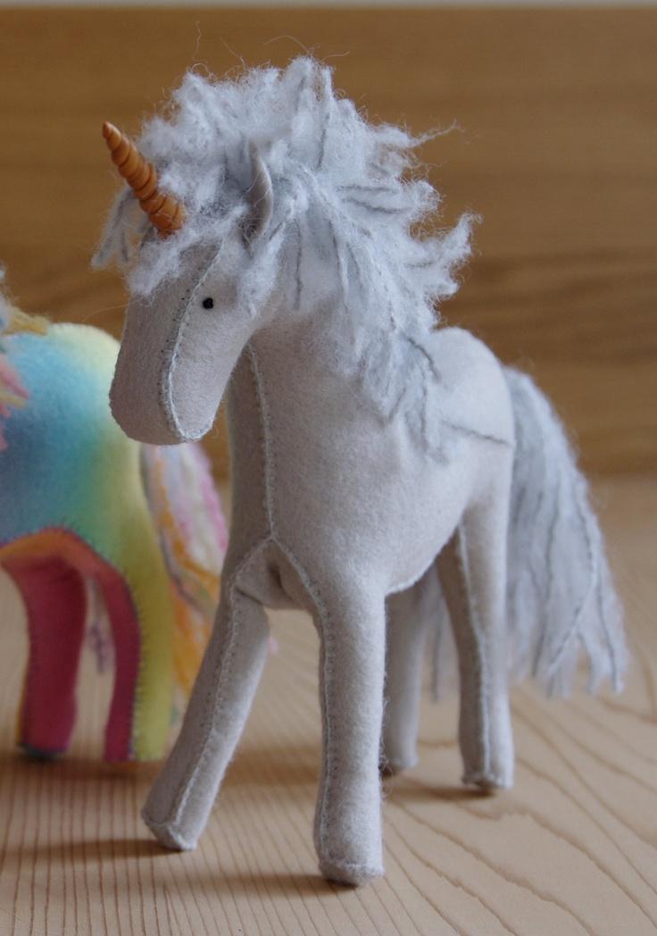 Felt Horse or Unicorn in Your Choice of Colour. $55.00, via Etsy.