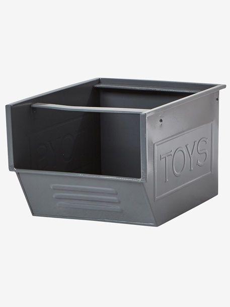 Stapelbox Aus Metall Blau Gelb Grau Rot Weiss 9 Wohnung