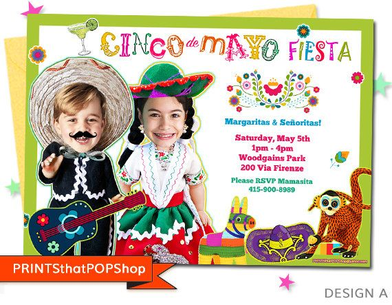 Cinco De Mayo,Fiesta Invitation,Mexican Fiesta,Cinco De Mayo Fiesta, Invite,Custom Face,Milestone,First Birthday,Custom Photo,First Birthday