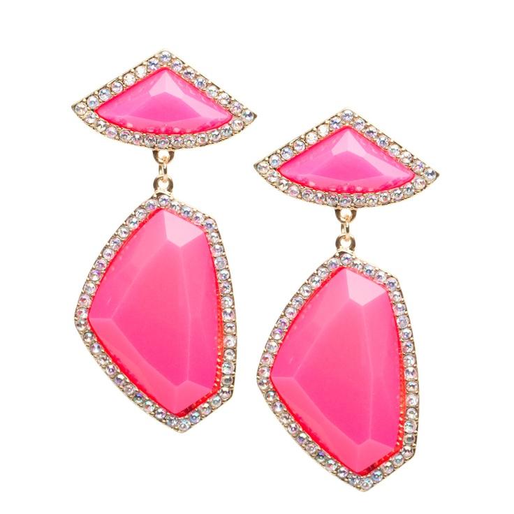 Jagged EdgesDiamonds Earrings, Parties Gowns, Ears, Vintage Parties, Statement Earrings, Pink, Jag Edging, Accessories, Vintage Style