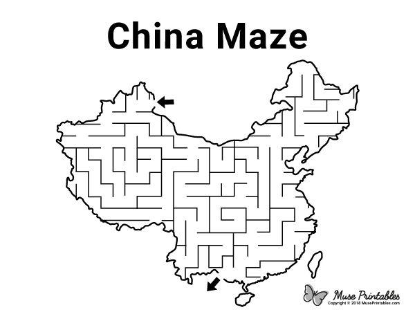 Free Printable China Maze Download It At Https Museprintables Com Download Maze China China For Kids China Printables Free Kids