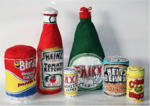 Holly Levell is a textile artist based in the UK. She takes everyday objects and creates quirky sculptures.: