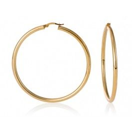Gold Hoop Earrings 6978