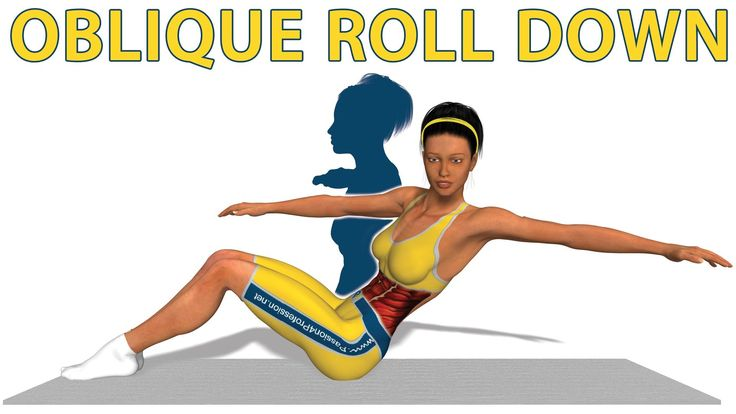 Ejercicios de Pilates: Oblique roll down