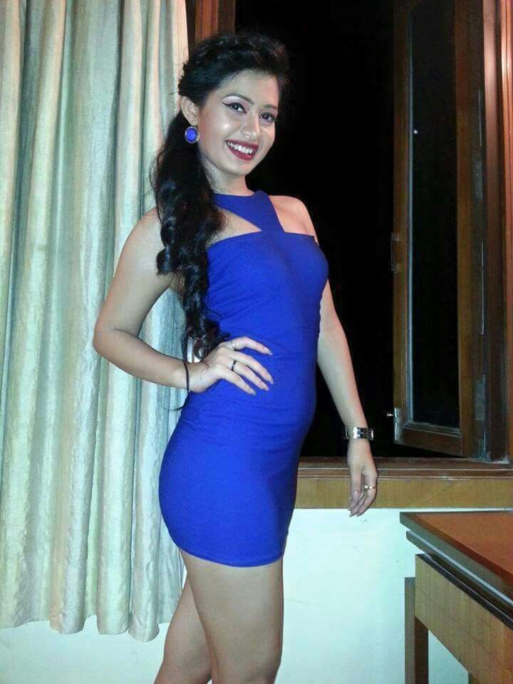 Ena saha in hot blue dress