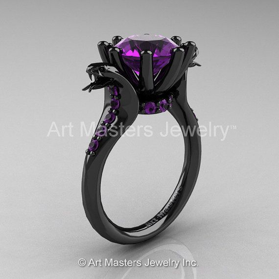 Art Masters Exclusive 14K Black Gold 3.0 Ct Amethyst by artmasters, $3799.00
