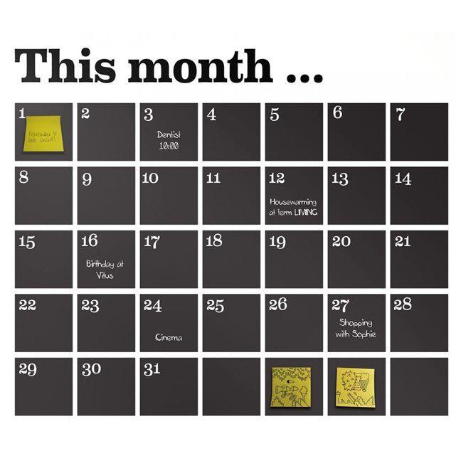 les 25 meilleures id es concernant calendriers muraux en tableau noir sur pinterest mur de. Black Bedroom Furniture Sets. Home Design Ideas