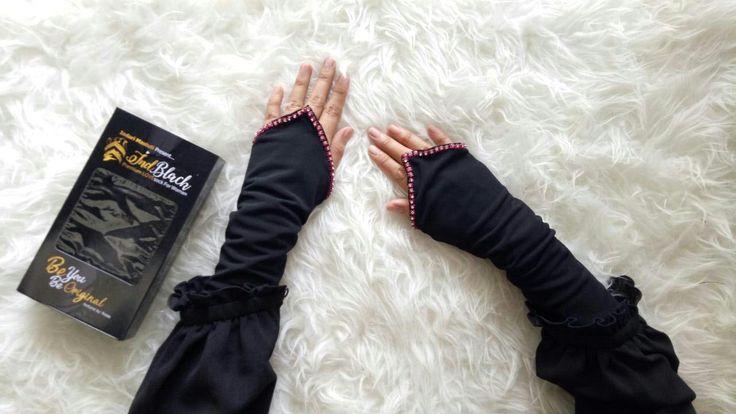 Myhijab butik store Swarzoski pink handsock