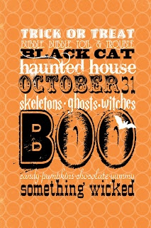 Free Halloween Subway Art Printable from It Works For Bobbi!  Love this!