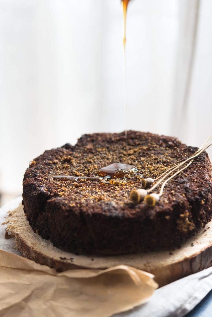 Honey, coriander and orange cake. You need to wait 2 days before eating but it is soo worth it!