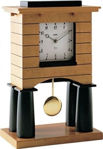 Alessi #mantel #clock with #pendulum, brown,  View more on the LINK: http://www.zeppy.io/product/gb/2/272331123309/