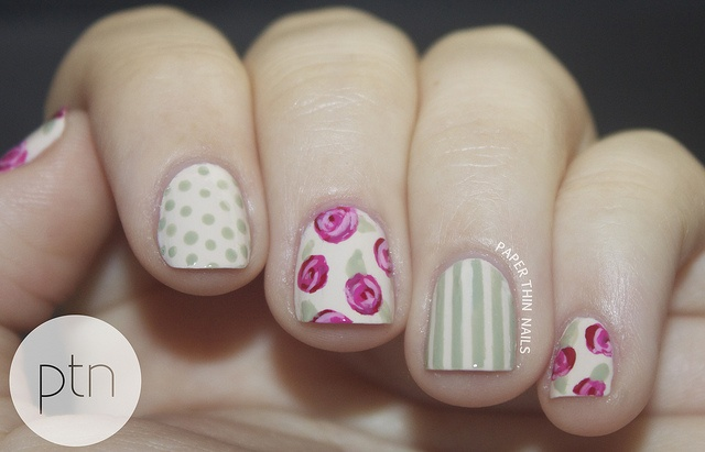 Envy - Seven Deadly Sins Challenge by Paper Thin Nails, via Flickr #nailart