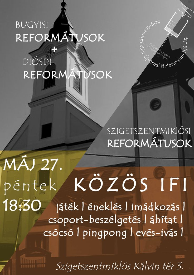 Saját plakátok || Közös Ifi [] My posters, event flyers || Youth Event with Bugyi and Diósd Youth Clubs