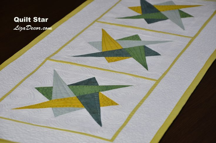 Patchwork Quilt Star & Triangl Hypnotic - LizaDecor.com #lizadecor #patchwork #pattern #video #tutorial #šablony #vzory #quilt #triangl