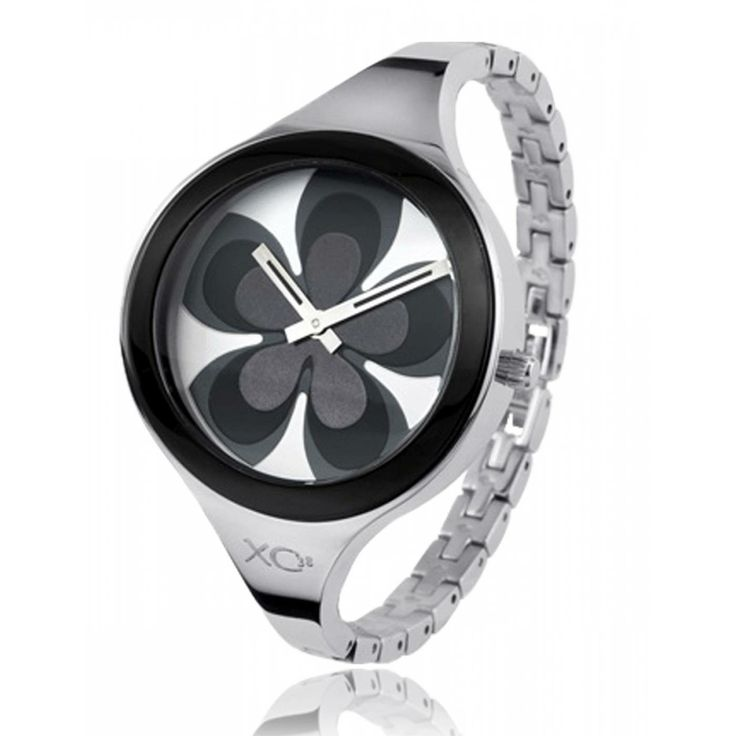 Ladies stainless steel FLOWER black watches - Xc38