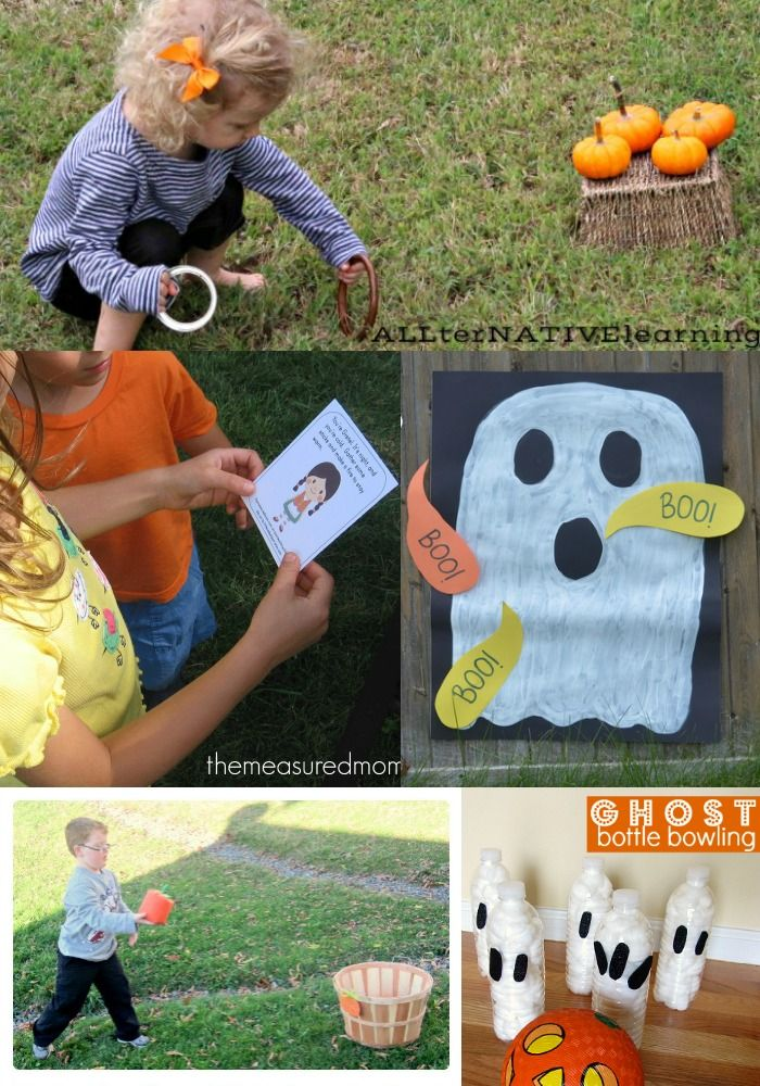 Awesome fall games for the backyard, class parties and family gatherings! #autumn #halloween