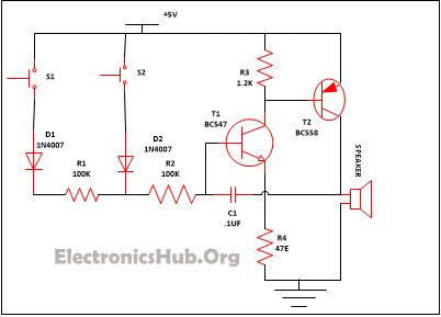 90 best images about mini projects circuit diagram security alarm circuit diagram source link electronicshub org
