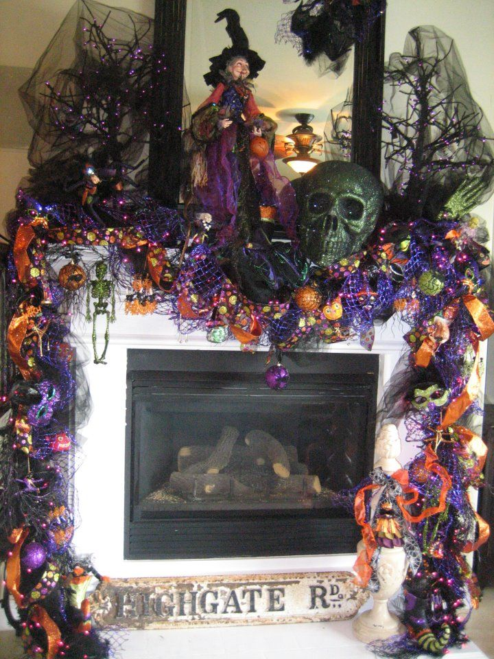 halloween decoration for the mantle