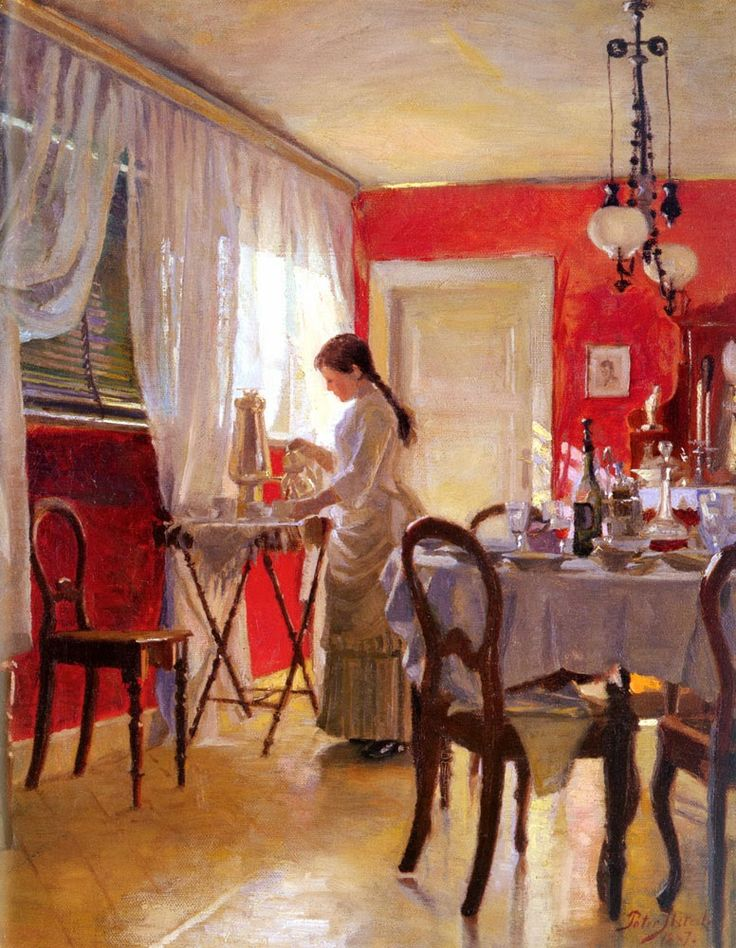 Peter Vilhelm Ilsted (1861-1933) —  The Dining Room    (776×1000):