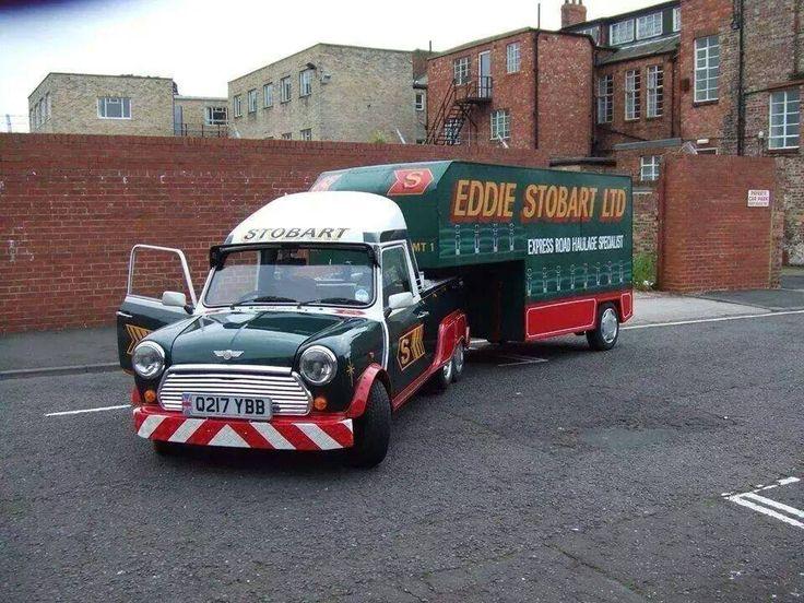 Steady Eddie Stobart 6 wheel artic. Mini , how good is this ?