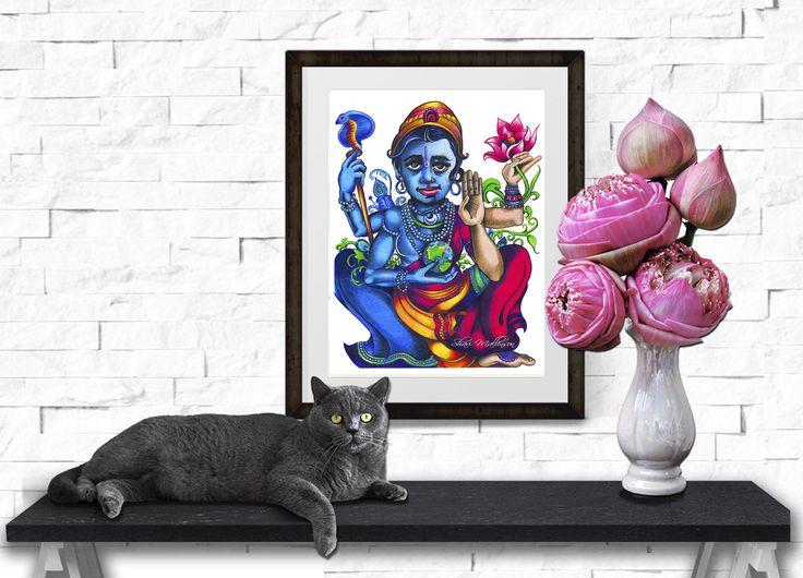 Vishnu's Lotus, Print - Shari Mallinson
