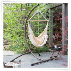 Brazilian Cotton Solid Colors Hammock Chair with Steel Stand