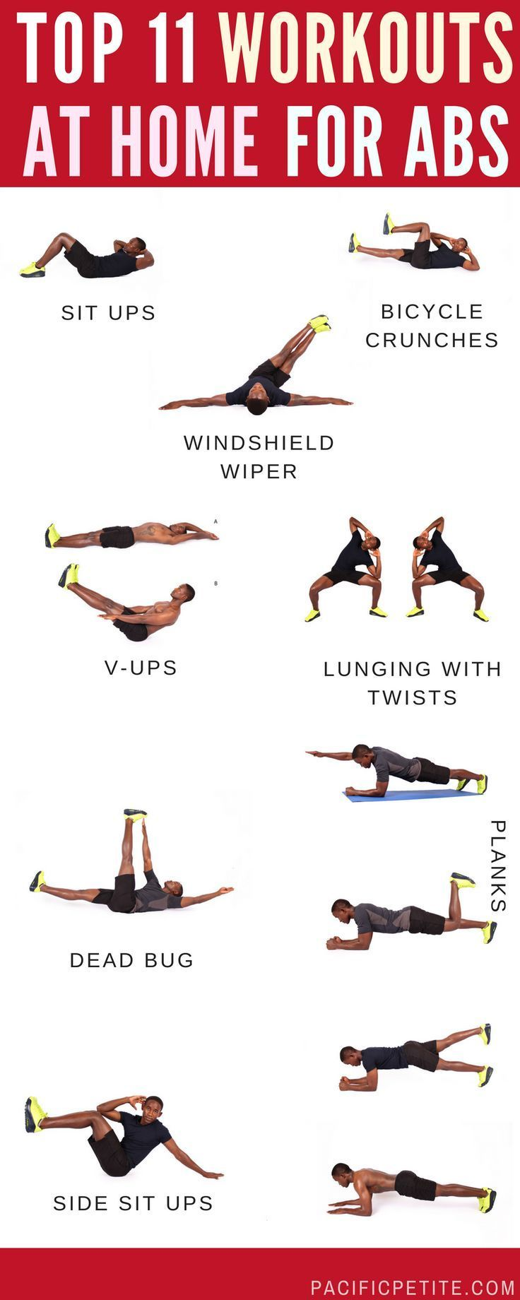 10 Best Stomach Muscle Exercises ideas  abs workout, workout plan