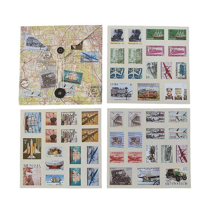 Travel Stamp Stickers - OrientalTrading.com