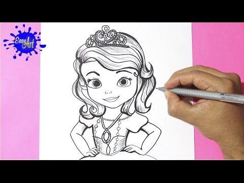 Como dibujar la princesita Sofia l how to draw the princess sofia l como dibujar una princesa YouTube