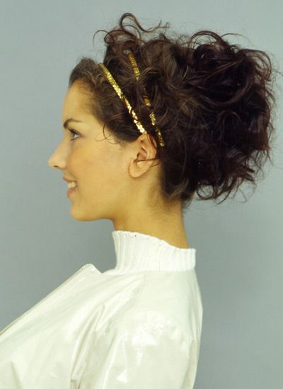Göttinnen-Frisur für Locken - Bilder