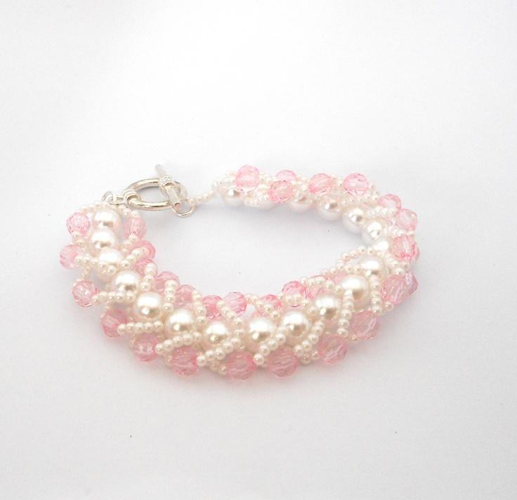 Hand weaved flat stich bracelet.