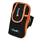 Smartphone Sport Armband, CrazyFire® Waterproof Neoprene Running Smartphone Armband for Iphone 5/5S Iphone 6 6S Iphone 6 Plus Android Phone and Gadget Organizer with Earphone Hole