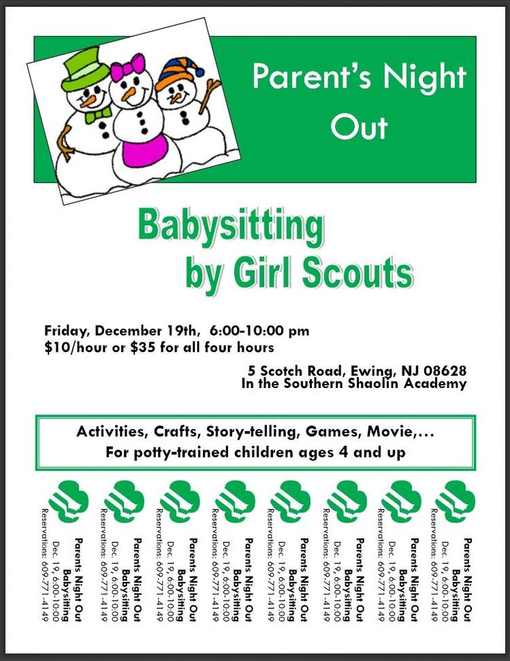 Girl Scout Babysitting Fundraiser - Yahoo Image Search Results