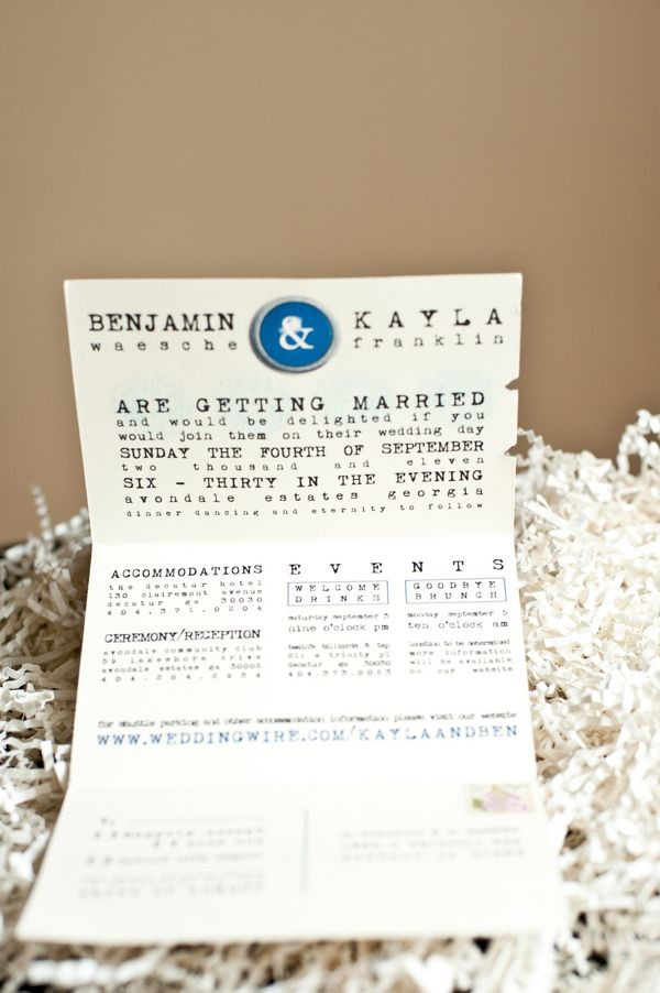 Eco Friendly DIY Wedding Invitations typewriter