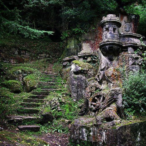 Castles carves into the landscape (Basque Country, Spain)