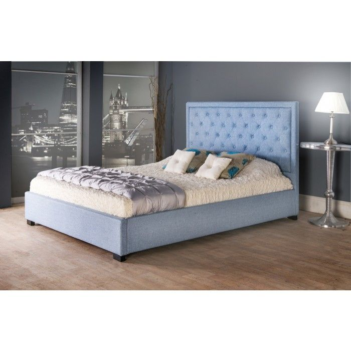 Bethel Fabric Upholstered Bed Frame - Luxury Fabric Beds - Beds.co.uk - The Bed Outlet