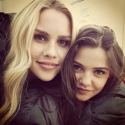 Claire Holt and Danielle Campbell
