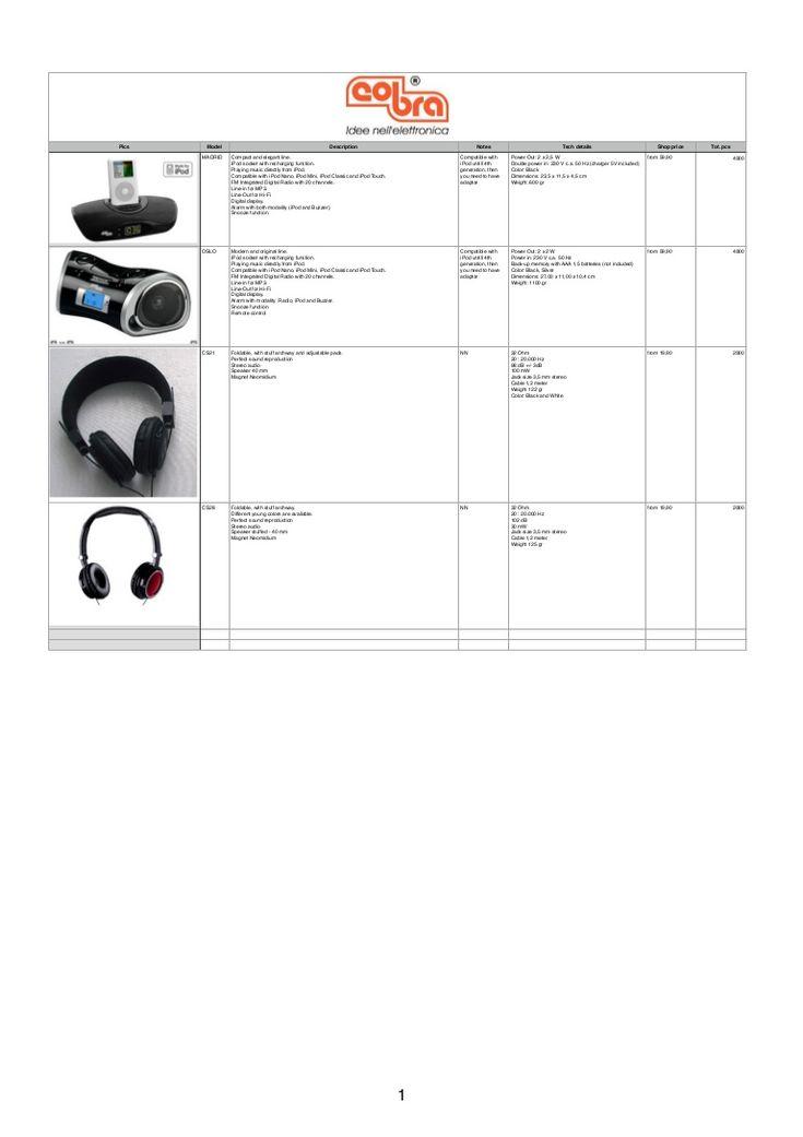 Акустические док-станции Cobra S.p.A. для iPod с наушниками от компании Stockist.it