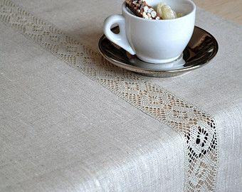 Table Runner Natural Undyed Decoration Linen by LinenLifeIdeas